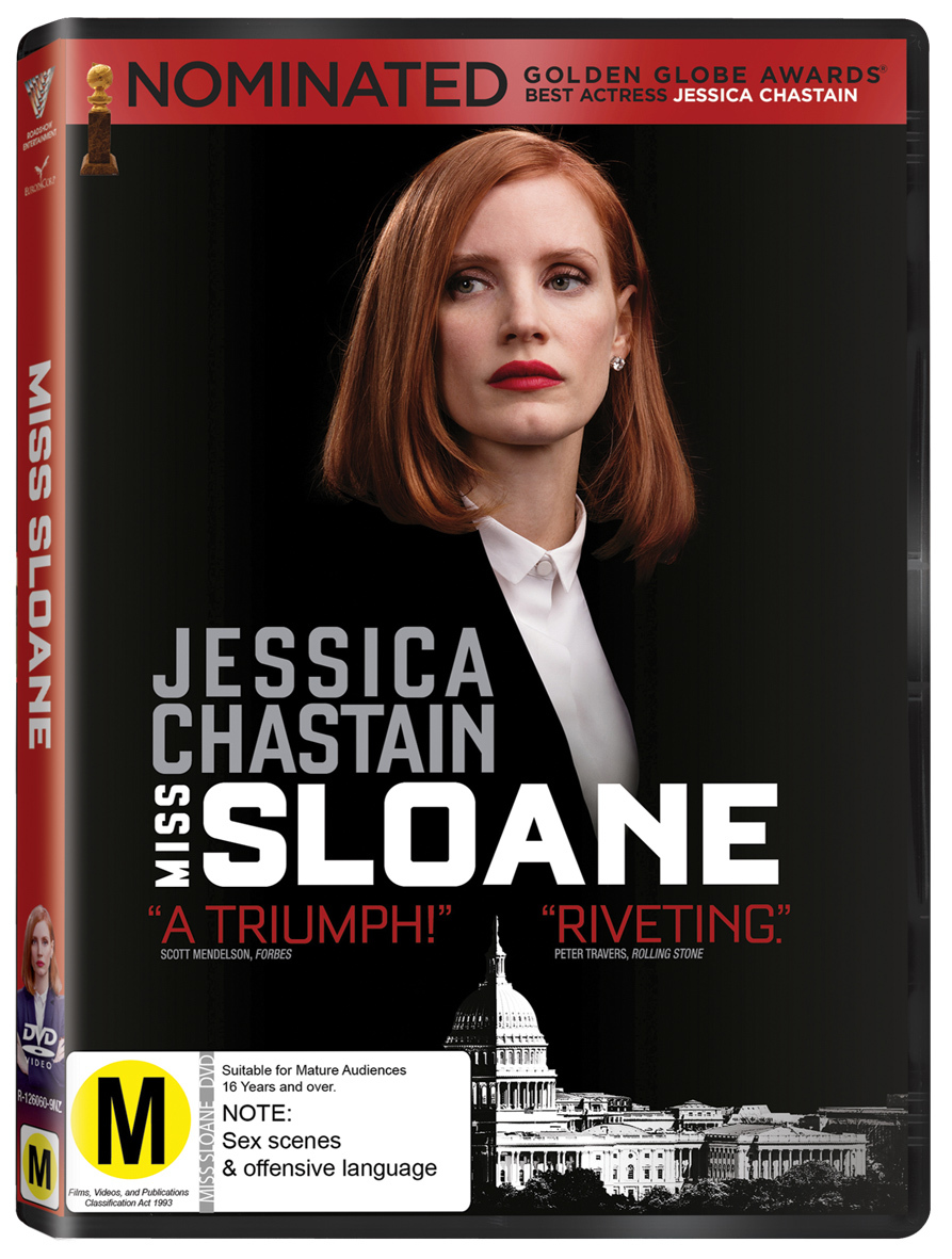 Miss Sloane on DVD image