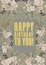 Papaya: Floral Mist Foil Birthday Card