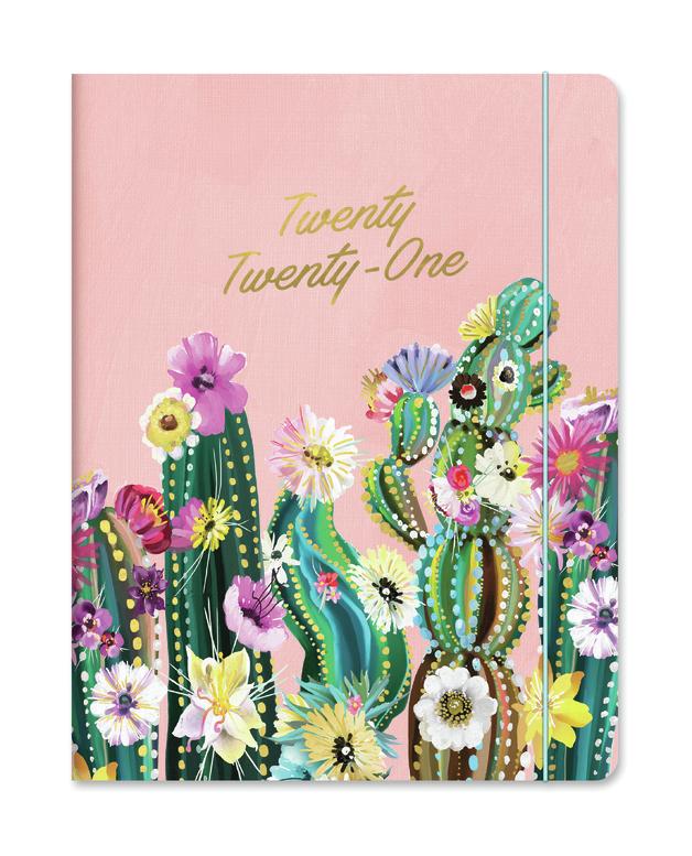 Orange Circle Studio: Just Right Monthly Planner 2021 - Desert Blossoms (Blush)
