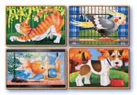 Wooden Pets Jigsaw Puzzles in a Box - Melissa & Doug