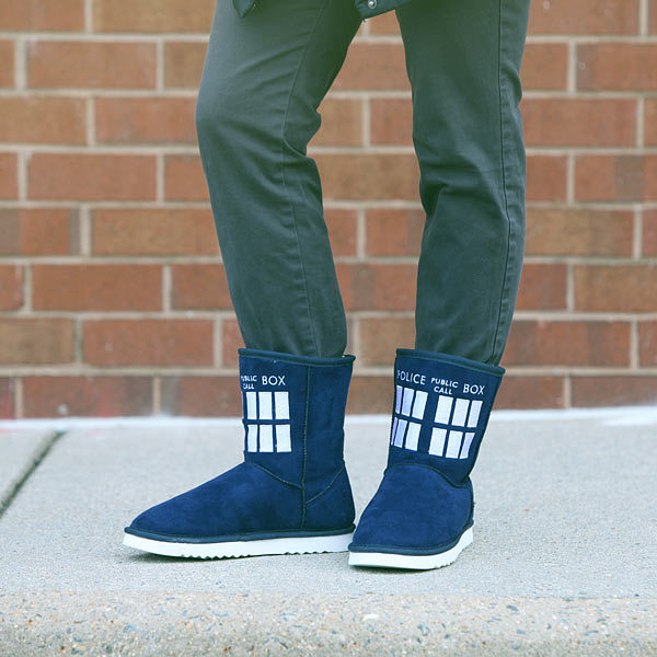 Doctor Who TARDIS Women's Ugg Boots (Size 9) image