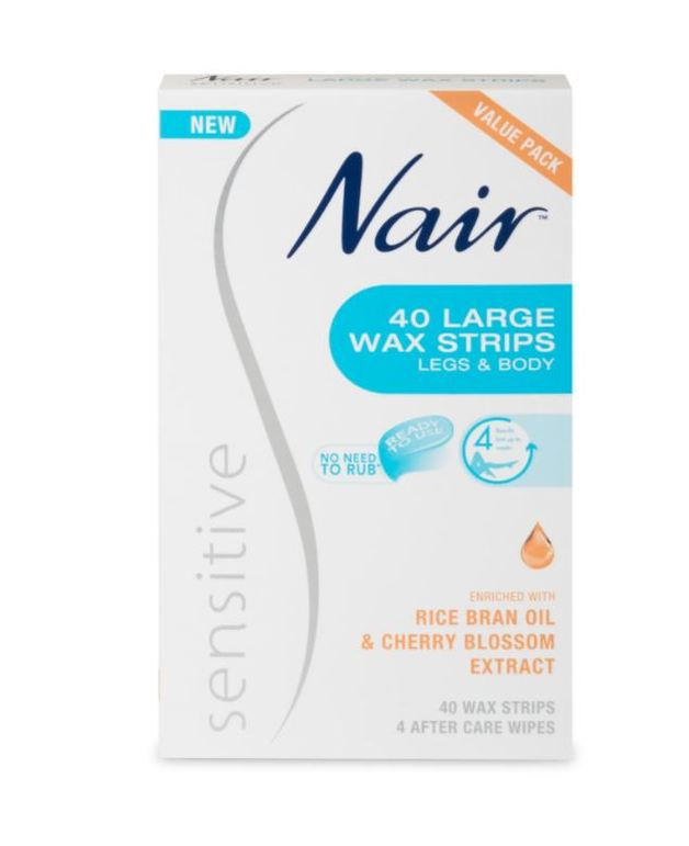 Nair: Sensitive Large Wax Strips (40 Value Pack)