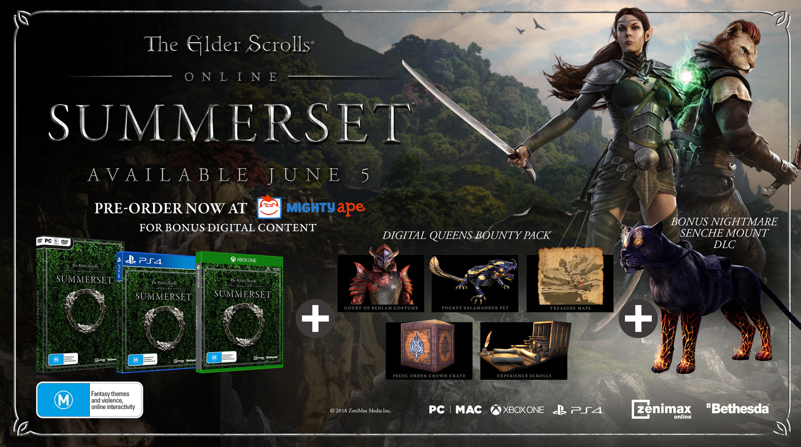 elder scrolls online summerset pc game on sale now