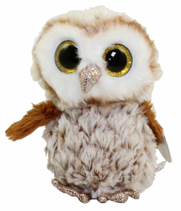 Ty Beanie Boo: Percy Barn Owl - Medium Plush