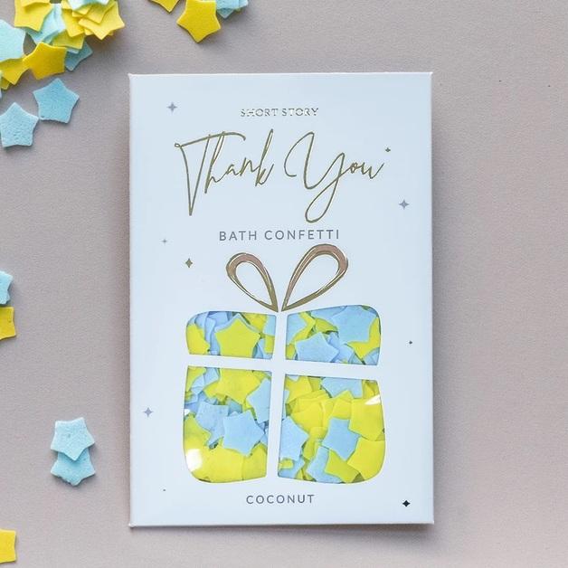 Short Story Bath Confetti - Thank You (Coconut)