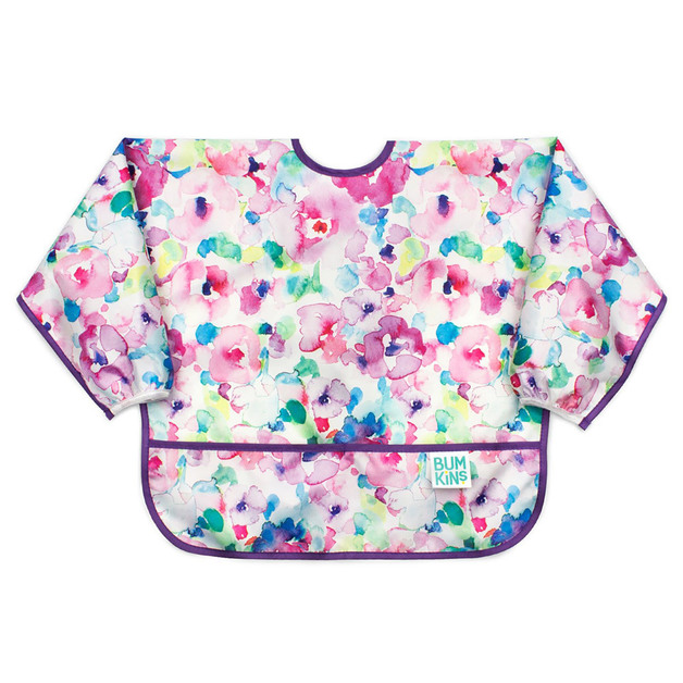 Bumkins: Waterproof Sleeved Bib - Watercolour