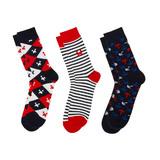 Minecraft Socks 3 Pack (Navy & Red, Kids)