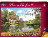 Holdson: 1000pce Puzzles - Picture Perfect Tulip Garden Cottage