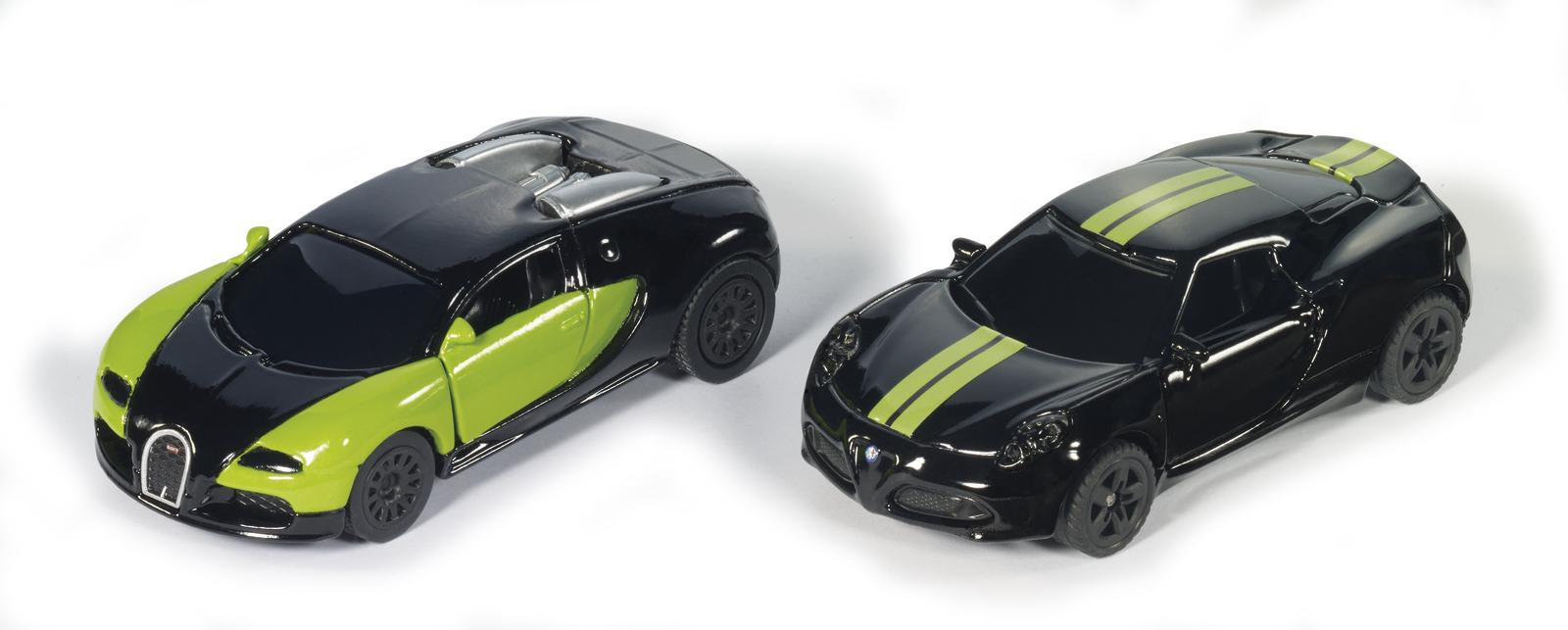 Siku: 2-Piece Black & Green Special Edition Cars image