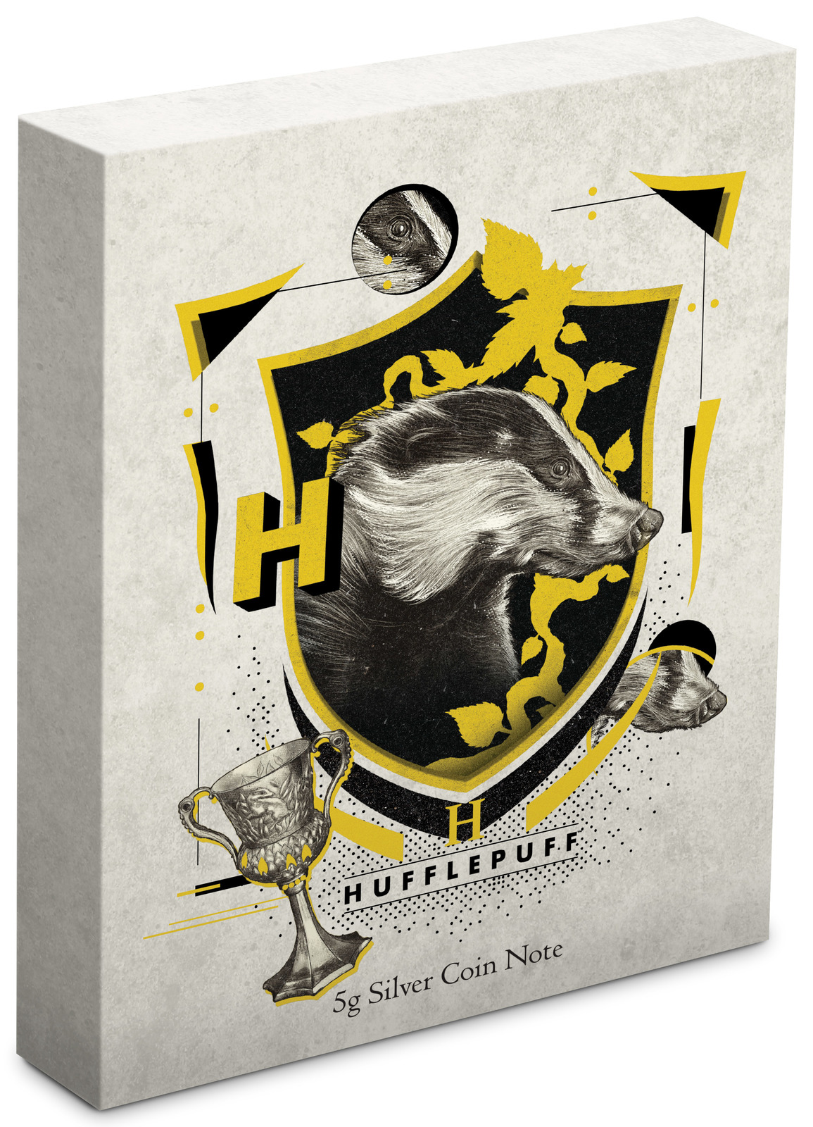 NZ Mint: Harry Potter - Silver Coin Note - Hufflepuff 2020 (5g Silver) image
