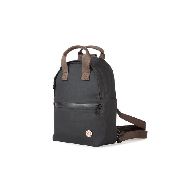 Manhattan Portage: Waxed Euclid Backpack - Black
