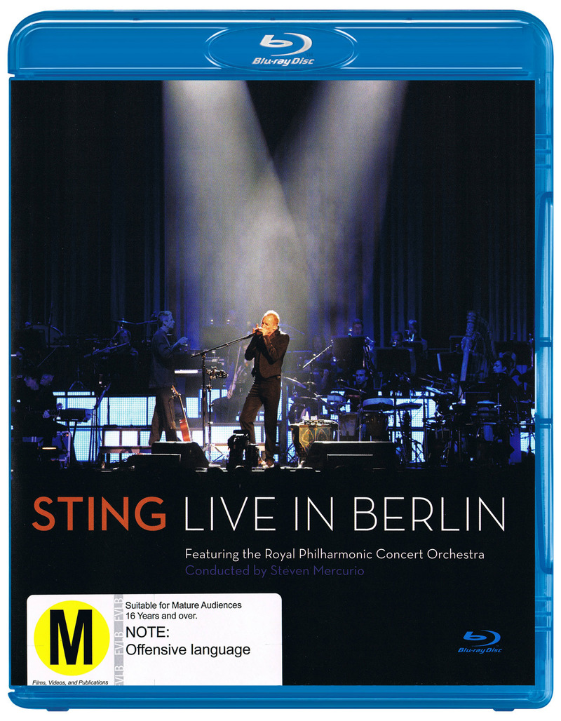 sting live in berlin blu ray buy now at mighty ape nz. Black Bedroom Furniture Sets. Home Design Ideas