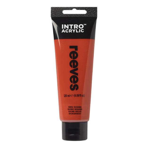 Reeves Intro Acrylic - Red Ochre (120ml)