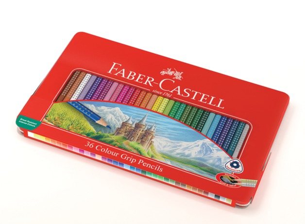 Faber-Castell: Grip Colour (Tin of 36)