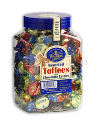 Walkers Nonsuch Toffees & Choc Eclairs Jar 1.25kg