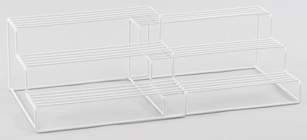 L.T. Williams - Wire 3 Tier White Corner Shelf