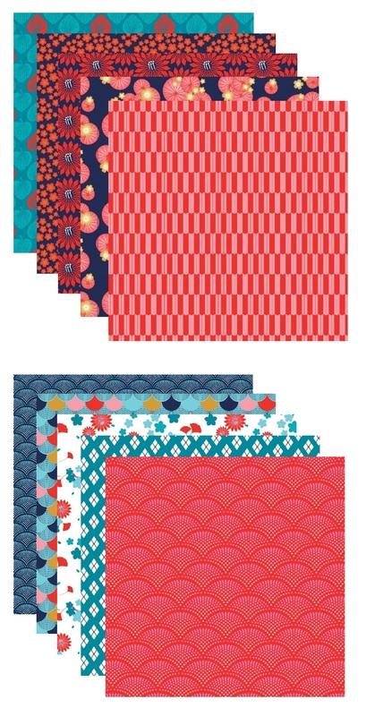 Clairefontaine: Origami 60 Sheets (3 Sizes) - Hanayo