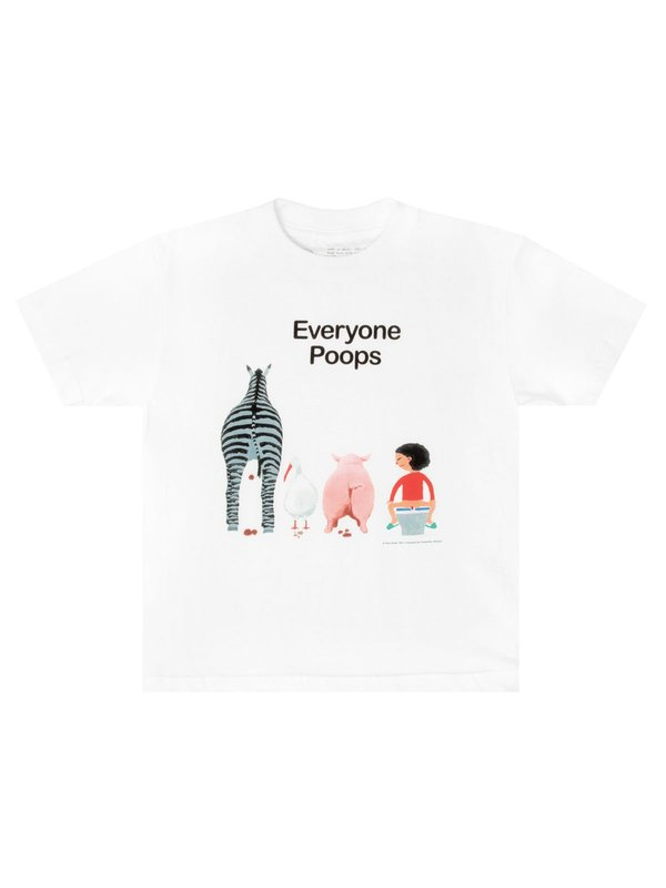 Out of Print: Everyone Poops Childrens Tee - 4/5 yrs