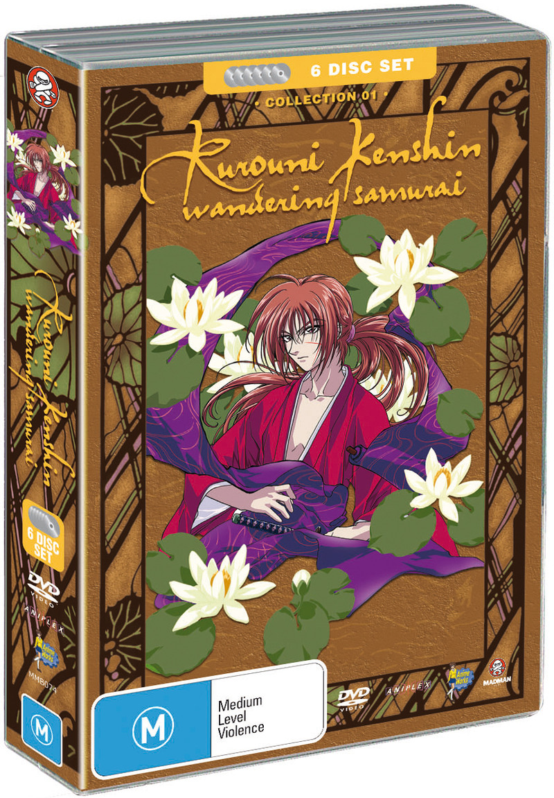 Rurouni Kenshin - Box 1 - Wandering Samurai Collection (Fatpack) on DVD image