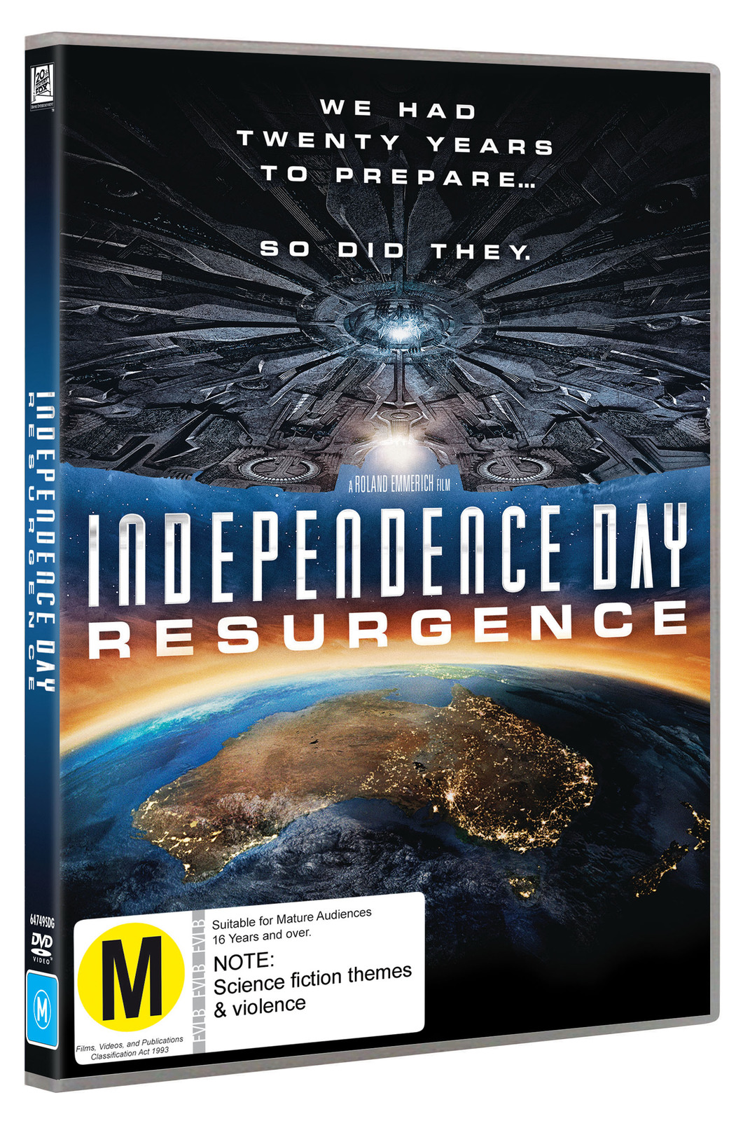Independence Day: Resurgence on DVD image