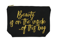 Canvas Cosmetic Bag (Beauty Inside)