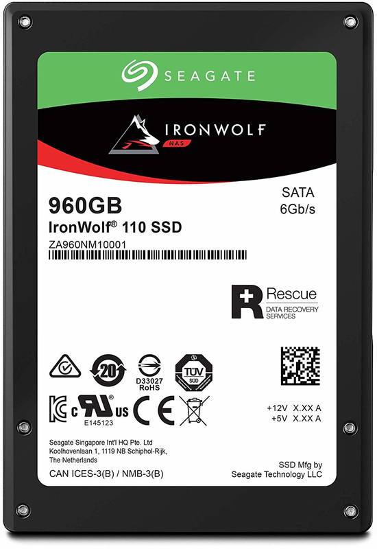 "960GB Seagate IronWolf 110 2.5"" SATA NAS SSD"