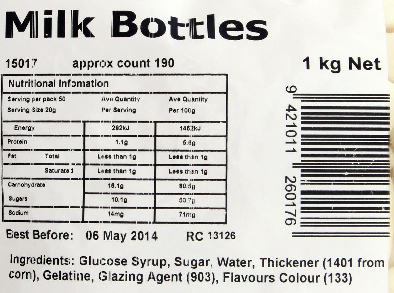 Milk Bottles 1kg - Rainbow Confectionery image