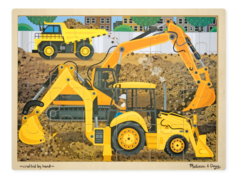 Construction Wooden Jigsaw (24pc) - Melissa & Doug image