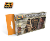 AK Old & Weathered Wood Paint Set 1