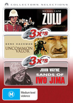 Zulu / Uncommon Valour / Sands Of Iwo Jima - 3x's: Collectors Selections (3 Disc Set) on DVD