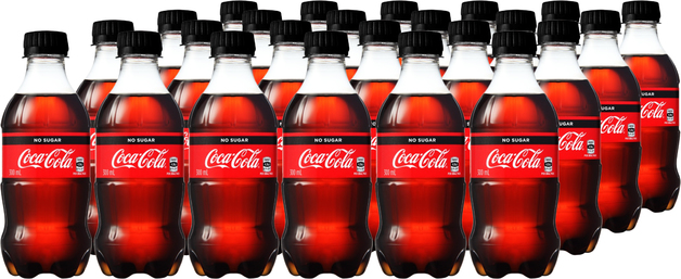 Coca-Cola No Sugar 300ml (24 Pack)