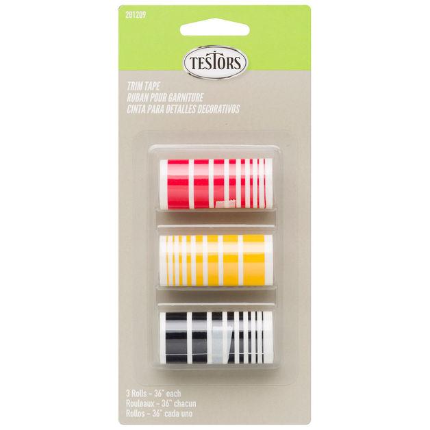 Testors: Decal Strips - Black/Red/Gold Set