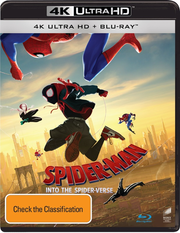 Spider-Man: Into the Spider-Verse on Blu-ray, UHD Blu-ray