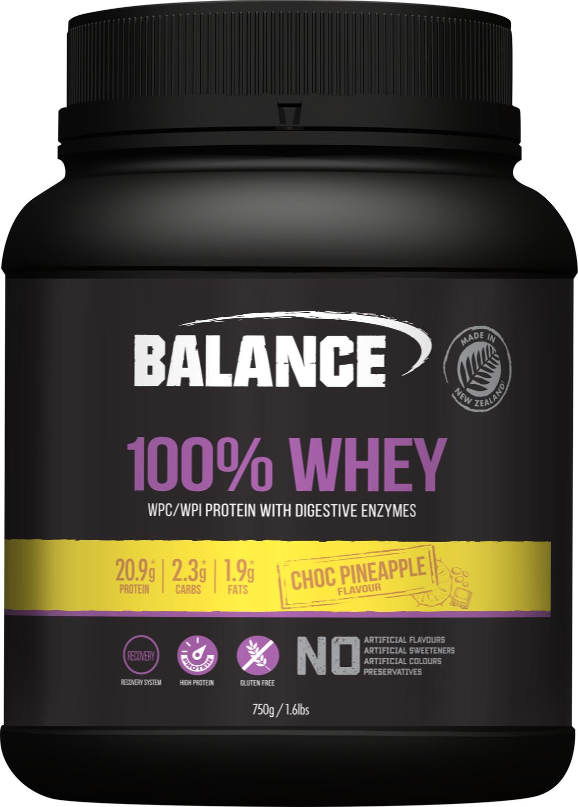 Balance 100% Whey - Choc Pineapple (750g) image