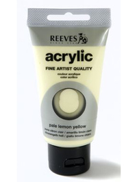75ml Reeves Fine Acrylic - Pale Lemon Yellow