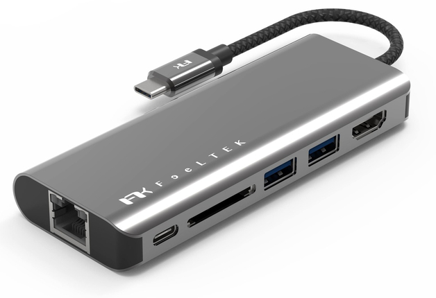 Feeltek Portable 6-in-1 USB-C Hub