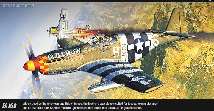 Academy P-51B Mustang 1/72 Model Kit image