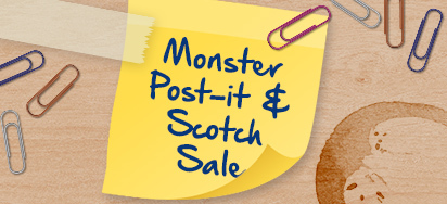 20% off all Scotch and Post-It!