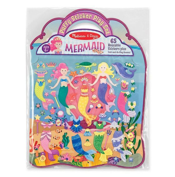 Melissa & Doug: Deluxe Puffy Sticker Album Mermaid