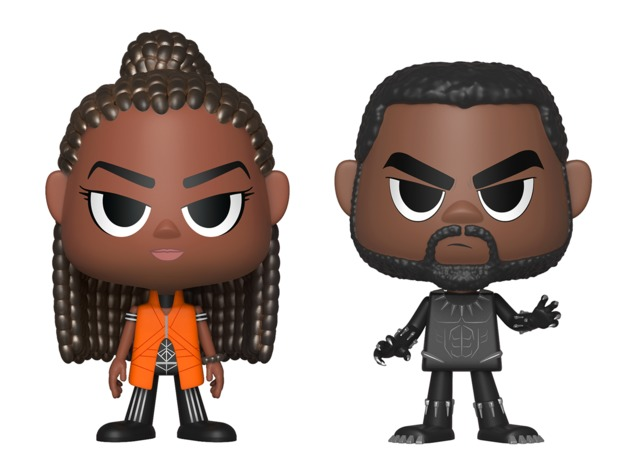 Black Panther: Shuri + T'Challa - Vynl. Figure 2-Pack
