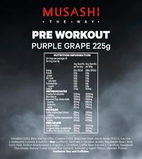 Musashi Pre-Workout - Purple Grape (225g)