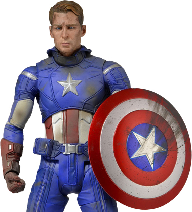 "Marvel Captain America Battle Damaged 18"" Action Figure"