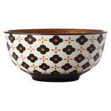 Christopher Vine: Marigold Bowl - Black Flower (18cm)