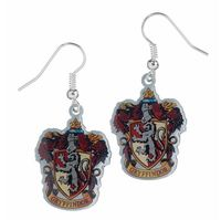 Harry Potter Earrings - Gryffindor Crest (silver plated)