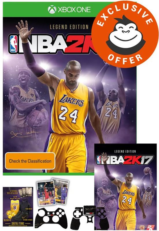 nba 2k17 legend edition xbox one buy now at mighty ape australia. Black Bedroom Furniture Sets. Home Design Ideas