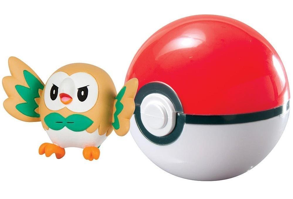 Pokémon: Rowlet & Poke Ball - Clip n Carry Set image