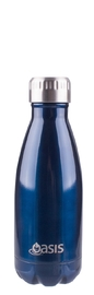 Oasis Stainless Steel Insulated Drink Bottle - Navy (350ml)