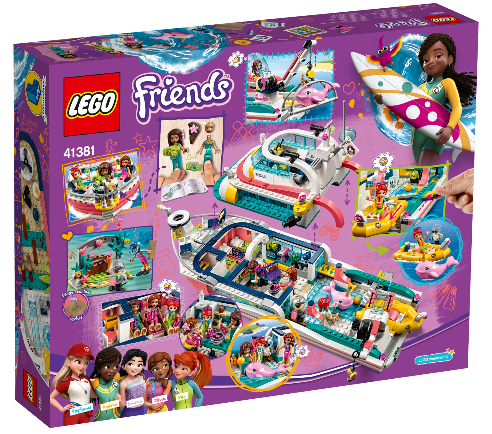 LEGO Friends: Rescue Mission Boat - (41381) image