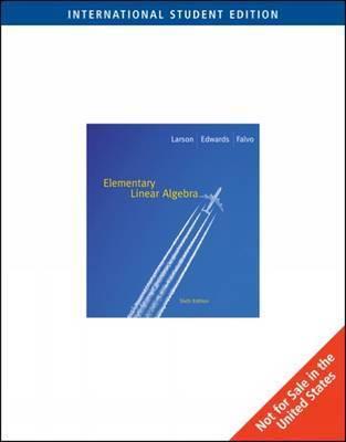 Elementary Linear Algebra by Ron Larson