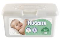 Huggies Baby Wipes Pop-Up Tub - Fragrance Free (80 Wipes)